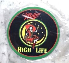 """Miller High Life - Lady in the Moon Sign - 7"""" Diameter"""