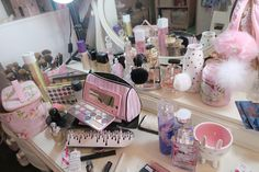 sometimes a mess can look pretty if it's all pink lol