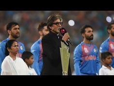 abf5d8f9ee Amitabh Bachchan Singing National Anthem at Eden Garden