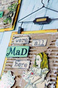 Adventures In Wonderland Wall Decor  for my alice in wonderland bathroom theme.  love it!