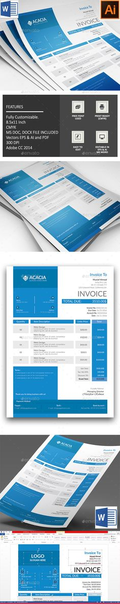 Proposal by Royalcrown Proposal Its a 18 page Clean Brand Book - invoice page