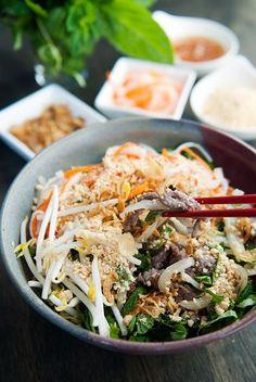 Vietnamese Bun Bo Xao Beef Noodle Salad byuserealbutter #Noodle_Bowl #Vietnamese