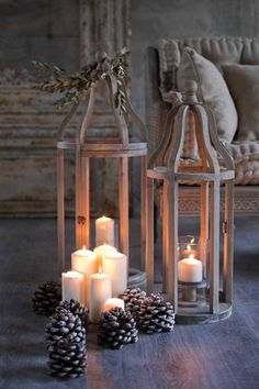 Candlelight Romance More Wooden Lanterns, Lanterns Decor, Candle Lanterns, Candle Sconces, Fall Lanterns, Led Candles, Bougie Candle, Deco Champetre, Lantern Candle Holders