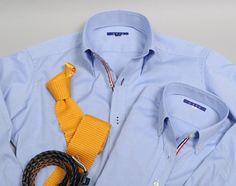 ペアーで着て楽しめるオジエのメンズ&レディースシャツ ~上品な光沢感・ピンポイントオックスフォードシャツ~