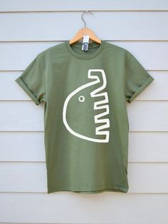 Nelly Tee In Khaki At Ben Prints On Etsy