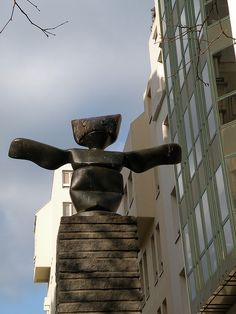 "Quartier de l'Horloge, ""Le Grand Assistant"" by Max Ernst  Rue Rambuteau / rue Brantôme, Paris III"