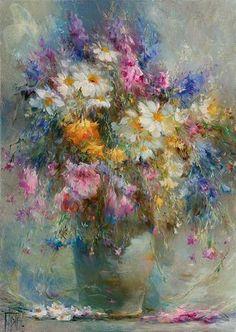 Картина с полевыми цветами «Вдохновение».