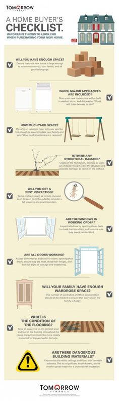 A Home Buyer's Checklist #Infographic