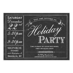 Discount Deals Chalkboard Typography Holiday Party Invitation We have the best promotion for you and if you are interested in the related item or need more information reviews from the x customer who are own of them before please follow the link to see fully reviews