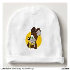 Cute mouse cartoon baby beanie