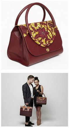 Blema: noun \ˈble-mə\ a leather satchel-style purse with Ankara Dutch wax printed fabric (Update: SEP-2014, no longer available)