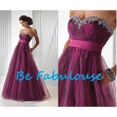 NEW COLLECTION  purple organza beaded PLEATED  off shoulder Matric farewell  dress!!! for R1,399.00
