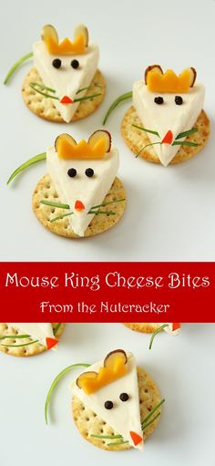 These cute little Mouse King cheese bites are a festive Nutcracker snack that are easy to make...and eat!