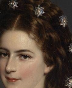 Empress Elizabeth of Austria (detail) by Franz Xaver Winterhalter 1860