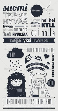 Typography with funny character   - GraphicRiver Item for Sale