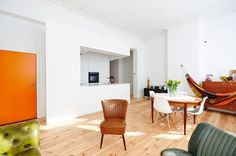 apartment in brussels - Belgian architecture studio AUXAU redesigned an apartment in Brussels' Flagey-Ixelles neighborhood. The original design featured only a singl...