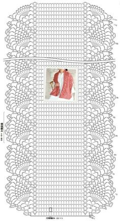 Crochet scarf pattern i couldn t find the pattern for thi - Stola Stricken Crochet Shawl Diagram, Crochet Stitches Patterns, Crochet Poncho, Love Crochet, Crochet Scarves, Crochet Chart, Crochet Tablecloth, Crochet Doilies, Crochet Lace