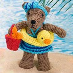 Beach bear Rita amigurumi pattern
