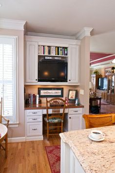 Super Staging A Built In Kitchen Desk Our Staging Work Pinterest Largest Home Design Picture Inspirations Pitcheantrous