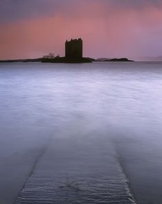 Peaceful Retreat, Appin, Argyll, Scotland, Castle Stalker, rain, evening, miserable, pouring, water, colourful, stark, s photo