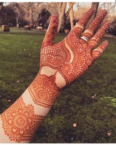 Image may contain: outdoor - Mehndi - Hand Henna Designs Back Hand Mehndi Designs, Latest Bridal Mehndi Designs, Stylish Mehndi Designs, Mehndi Designs For Girls, Mehndi Design Photos, New Bridal Mehndi Designs, Mehndi Art Designs, Tattoo Designs, Mehndi Images