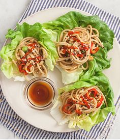 Spicy Peanut Lettuce Wraps