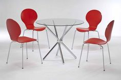 This Casa Glass Dining Set Is A Well Priced Modern Looking Glass Dining  Table With Four