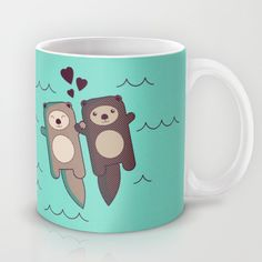 Significant Otter Coffee Mug by TinyBee - 11 oz Significant Otter, Animal Mugs, Diy Mugs, Cute Cups, My Cup Of Tea, I Love Coffee, Funny Mugs, Mug Cup, Coffee Cups