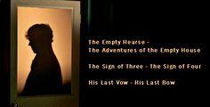 Sherlock BBC One Season 3  titles with the original Sherlock Holmes stories... Spoilers!