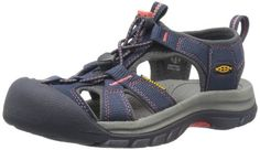 Awesome KEEN Women's Venice H2 Sandal,Midnight Navy/Hot Coral,9.5 M US
