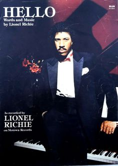 Hello Song by Lionel Richie Vintage Sheet Music 1983 Vintage Sheet Music, Vintage Sheets, Lionel Richie, Hello Word, Old School Music, My Music, Jazz, Songs, Happy