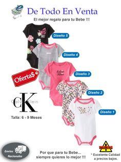 Mamelucos Para Bebé Calvin Klein 6 a 9 Meses