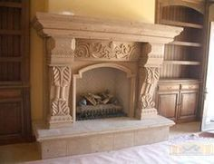 English style mid 18th century fireplace mantel - frieze design ...
