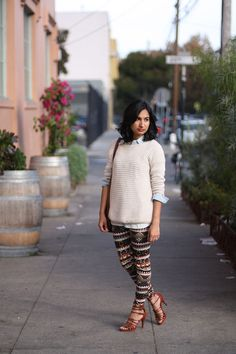 Good SF fashion blogger Fair Isle Leggings   Like Fresh Laundry