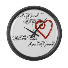 "What a great twist on telling time.  'cause God is Good all the time..  from http://AmericanChristianHome.com.  We are just launching our Christian Kids Store!  For a sneak peak and huge savings, visit http:ChristianKidstore.com   SAVE 20% WITH COUPON CODE; "" NEWBFF"" FREE BUMPER STICKER WITH A $25 OR MORE PURCHASE.  Place your order on our website GodisGoodStuff.com  . LIKE OUR FAN PAGE FOR A CHANCE TO WIN A FREE T-SHIRT! Facebook.com/GodisGoodStuff ."