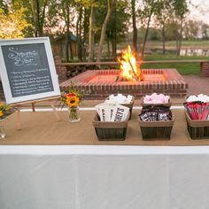 S'mores Bar // photo by: Darbi G. Photography // dessert: Hitched Weddings And Events