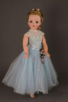 """20"""" M.A. CISSY IN TAGGED DRESS ~ hard plastic"""