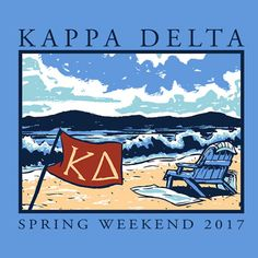 Kappa Delta Spring Weekend | Greek House | #Spring Break #Spring #Summer #Beach #flag #wave #beach #chair #beach chair #spring #sky #beach towel