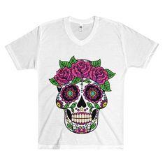 Men's V-Neck T-Shirt - T-shirt Print