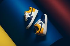 This new colorway of the Nike Air Force 1 is perfect for Lakers fans as it combines purple, white, and yellow on the upper along with a white sole.