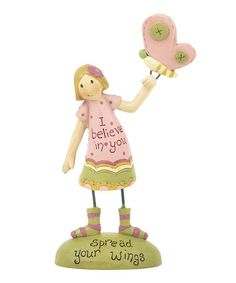 Take a look at this 'Spread Your Wings' Girl Figurine by Blossom Bucket on #zulily today!