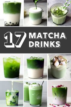 Drink recipes 423619908703492565 - Matcha is having a moment, and we're here for it. Celebrate matcha with these 17 wonderful recipes that use matcha as the star of the show. Hot, cold, and iced, it's all here! Smoothie Bowl, Matcha Smoothie, Smoothies, Yummy Drinks, Healthy Drinks, Matcha Drink, Matcha Dessert, Matcha Cake, Healthy Recipes