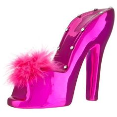Every girl should have one of these! or maybe two to make a pair each! Money Bank, Every Girl, Cute Pink, Banks, Heels, Christmas, How To Make, Fashion, Heel