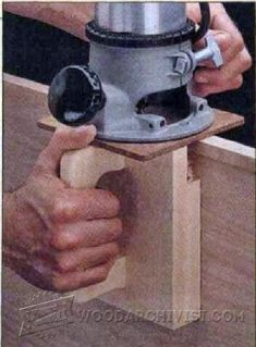 DIY Edge Banding Trimmer - Edging Tips, Jigs and Techniques   WoodArchivist.com #woodworkingbench #woodworkingideas