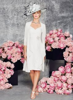 Mother of the Bride Dresses - $122.00 - Sheath/Column V-neck Knee-Length Chiffon Lace Mother of the Bride Dress With Ruffle Appliques Lace Cascading Ruffles (0085097337)