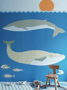 Wall Print collection by INKE (whale)