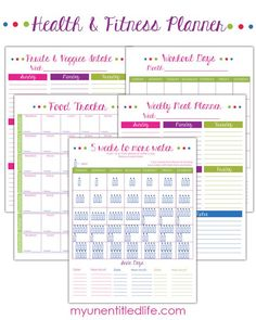 fitness planner printables FREE