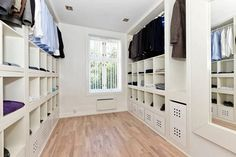 Studio8940.: Bye bye Expedit, welcome Kallax! For a family closet in the laundry room some day!!
