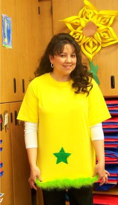 star-bellied sneech: yellow t-shirt, add fringe and felt star? Sooo doing this for dr Seuss day!!