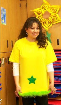 star-bellied sneech: yellow t-shirt, add fringe and felt star?